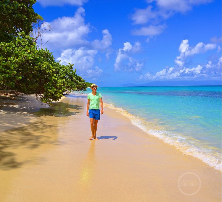 Mattijs tijdens Caribische vakantie op Marie-Galante (Guadeloupe)