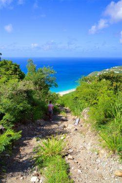 De weg naar Fort Willem Sint Maarten