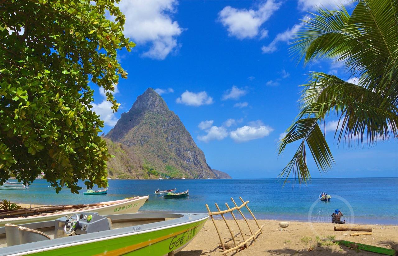 Gros Piton Soufriere beach St. Lucia